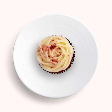 Red Velvet Rosette Cupcake