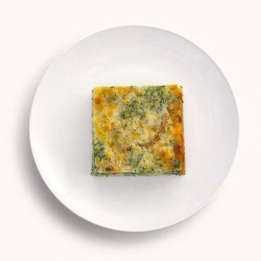 Spinach & Smoked Chicken Quiche Slab