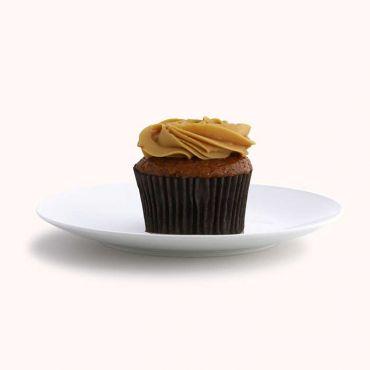 Salted Caramel Rosette Cupcake