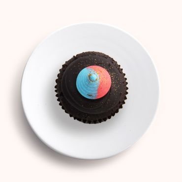 Chocolate Spaceship Cupcake