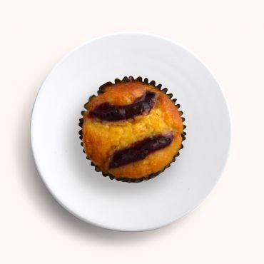 Plum & Orange Morning Tea Cupcake