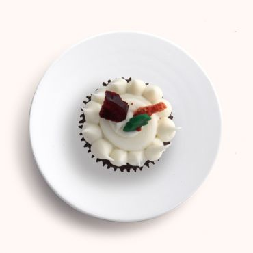 Christmas Chocolate & Raspberry Morning Tea Cupcake