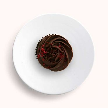 Double Chocolate and Raspberry Rosette Cupcake