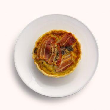 Mushroom & Bacon Quiche